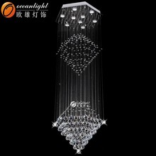 crystal lighting and chandelier,decorative colored glass chandelier,wedding chandelier earring OM88529
