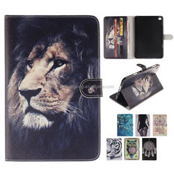 2015 newest Magnetic Stand Folio Tablet PU Leather Case for iPad Mini 4