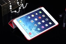 new hot selling products three line folding leather case for ipad mini 2
