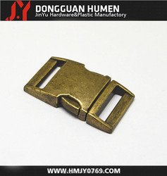 Anti-bronze quick side release metal buckle