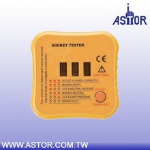 European UK type neon light detect faulty wiring status in 3 wire Socket tester
