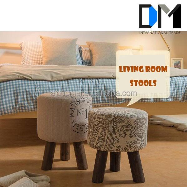 Living Room Stools : Wholesale Design Fabric Living Room Shoe Store Foot Stool ...