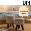 Wholesale Design Fabric Living Room Shoe Store Foot Stool/Children Wood Stool