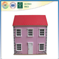 Stone doll house funny children play set safe wooden good doll house