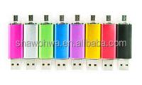 Custom Logo Printed USB2.0/USB3.0 1G/2G/4G/8G/16G/32G/64G OTG Flash Drive, Memory Disk, USB key, Thumb Drive, Keychain Drive
