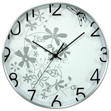 "12"" unique flower design art decor wall clock time zones/decorative wall clock/best selling hot chinese clock"