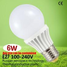 Trade Assurance Nano Thermal Plastic lamp led High lumen led lighting bulb 6W e27 led bulb CE