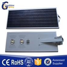 High efficient lithium battery 110lm USA Bridgelux all in one solar street light
