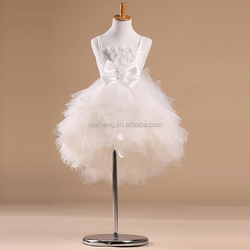 2015 latest OEM white red party dress children