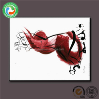 Alibaba china unique handpaited crane canvas art painting