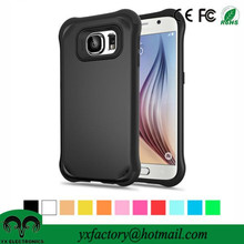 mutiple colors pc+tpu shockproof cover for samsung galaxy s6, cheap silicon cover for phone