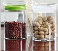 Multi-function Heat resistant fresh keeping silicone sealed borosilicate glass storage jar for candy food ect