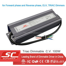 TRIAC dimmable 100W 24V LED driver for strip