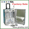 CE Approval Cheap Price Portable Dental Unit with Air Compressor with LED Curing Light and Scaler