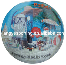 professional rubber holiday size 5 cartoon basketball with photo design