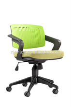 Colorful Plastic office chair with locking casters
