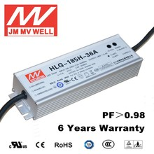 185W 36V waterproof constant current led driver for streetlight with ul ce rohs emc 6 years warranty