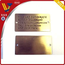 2014 High quality cheap nameplate engraving logo nameplate