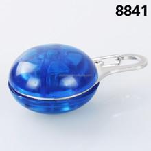 NEW blue Circular Pendant Collar Puppy Led Safety Night Light Pet Dog Collar