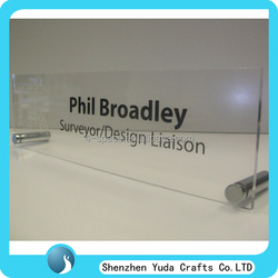 Desktop acrylic sign holder acrylic business card holder with screw