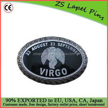 Free artwork design quality personalized Astrology Sign Virgo Belt Buckle