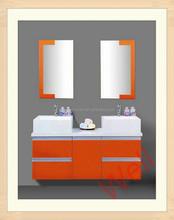 Double sink bathroom MDF vanity cabinets 864