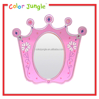 Best quality kids hotel heart shaped wall mirrors, hot sale hotel bathroom mirrors