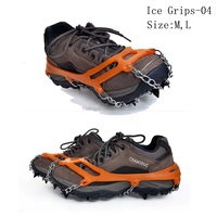 Anti-Slip Shoes Boots Covers Ice Gripper Snow Chain Crampons Cleats