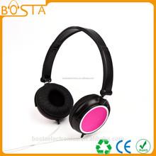 Children's gadget new gear in season pink headphone with DIY logo