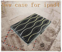 2013 new product pu leather case for ipad 4, leather protective case for apple ipad aliexpress