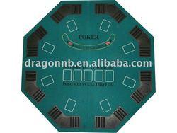 Octagonal Poker Table/4 Foldable Poker Tabletop