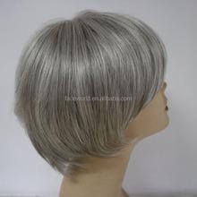 cheap short bob style machine made hair wig gray hair wig