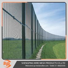 PVC coated 358 welded security fence prison mesh panels