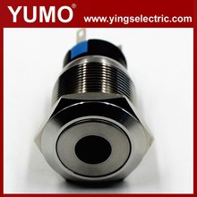 LA19-AJS 19mm 250V Led momentary elevator equipment pushbutton switch Metal push button electrical push button
