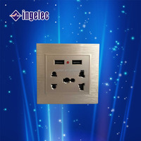Hot sale use wall socket ingelec electric flush type wall mounted power outlet socket