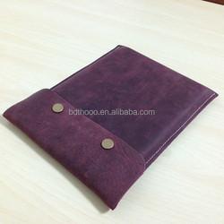 fashion girl retro handmade genuine leathe soft cover for ipad, for ipad mini bag, for ipad air pouch