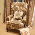 Nuevo estilo americano tapicería tela de algodón y lino tejido Jacquard para sofá o cortina