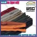Diferentes tipos de capa de la cremallera del todo longitud de la cremallera del todo color cremalleras abrigo