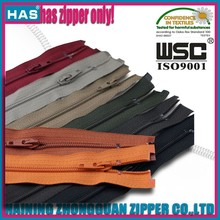 Different types of coat zipper all length coat zipper all color coat zippers