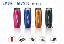 Sports Music Portable Mini Speaker/Sound Box MP3 Player on bike bicycle support FM Radio and SD