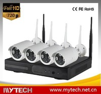 4CH Wireless camera kit 720p NVR P2P onvif 4pcs WIFI IP Camera Outdoor indoor Network 1.0MP CCTV camera system