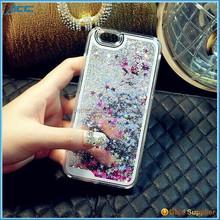Plastic Bling 3D Moving Liquid Glitter Star Case For Iphone 6S