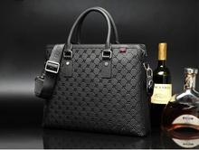 Hautton Brand Men's Casual Genuine Leather Real Cowhide BAG Shoulder Briefcase Laptop Tote Handbag