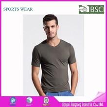 High Quality Mens Bamboo V-Neck T-Shirts Plain Blank T-Shirts Made In China