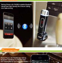Multifunction bluetooth handsfree FM transmitter MP3 player car charger