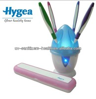 Hot sale 99.9% bacteria eliminated HH10 family UV toothbrush sanitizer with 4 toothbrushes