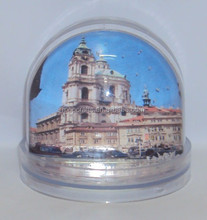 Plastic photo frame snow globe