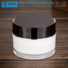 YJ-A100 100g cylinder wide application for cosmetics industry 100ml popular type plastic acrylic cream jar