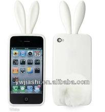 Conejo de silicona cubierta del teléfono( jsa207) para 4 teléfono