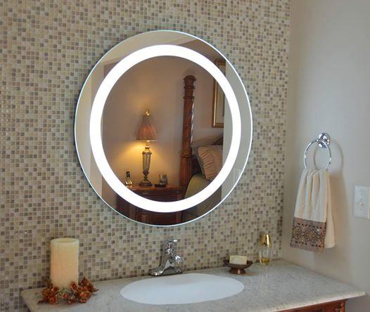 Bagen miroir rond avec led clairage pour les h tels de for Miroir rond grande taille